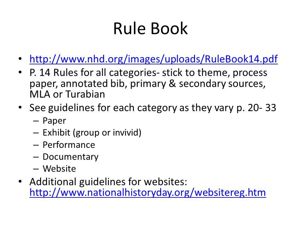 Rule Book http://www.nhd.org/images/uploads/RuleBook14.pdf P.