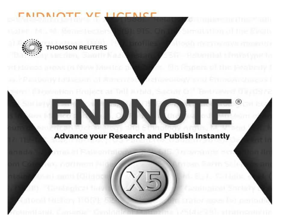 ENDNOTE X5 LICENSE
