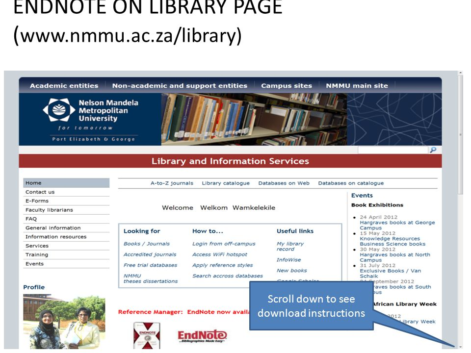 ENDNOTE ON LIBRARY PAGE (   Scroll down to see download instructions