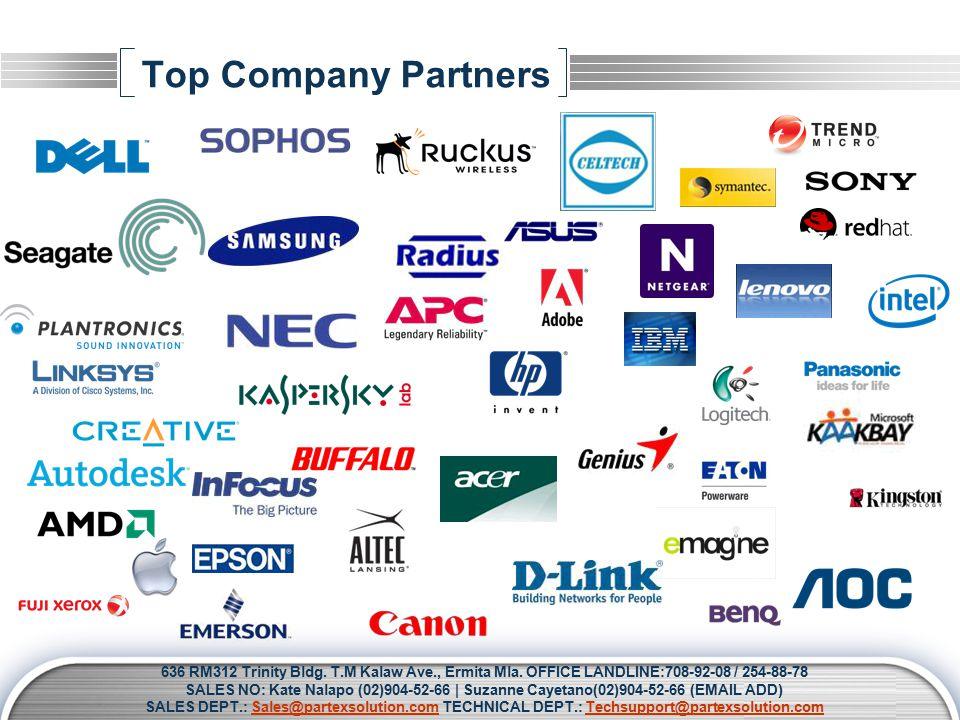 LOGO Top Company Partners 636 RM312 Trinity Bldg. T.M Kalaw Ave., Ermita Mla.