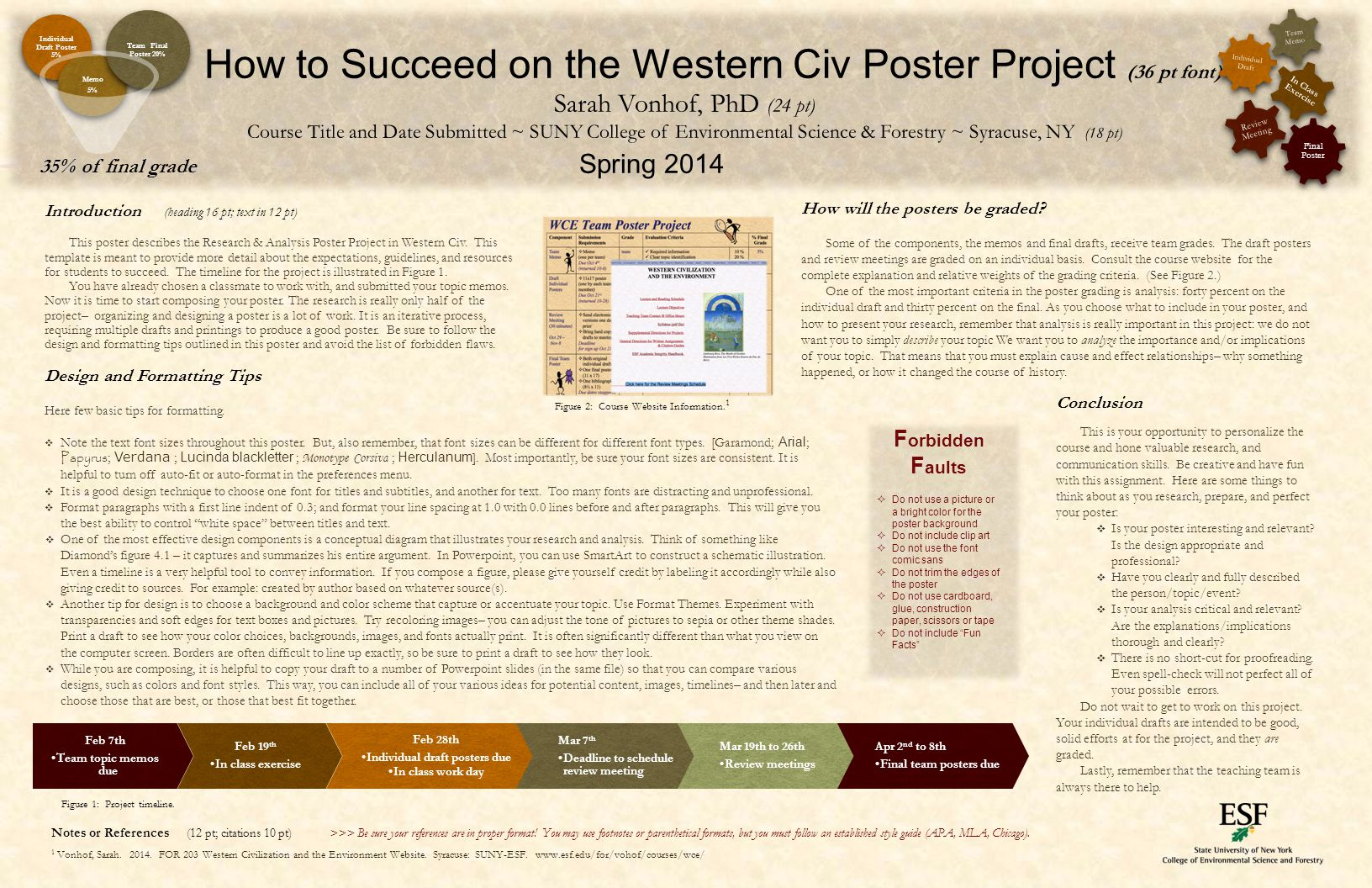 Introduction (heading 16 pt; text in 12 pt) This poster describes the Research & Analysis Poster Project in Western Civ. This template is meant to pro