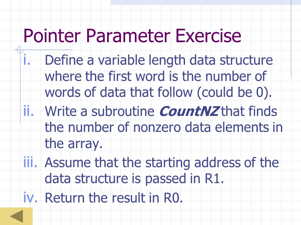 Pointer Parameter Exercise i.