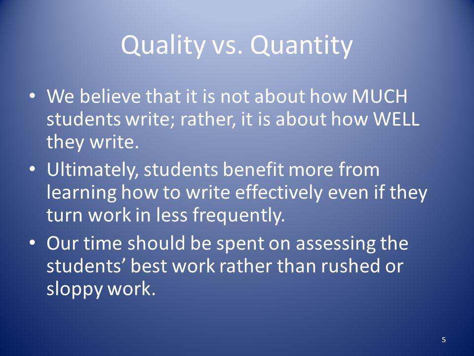 Quality vs.
