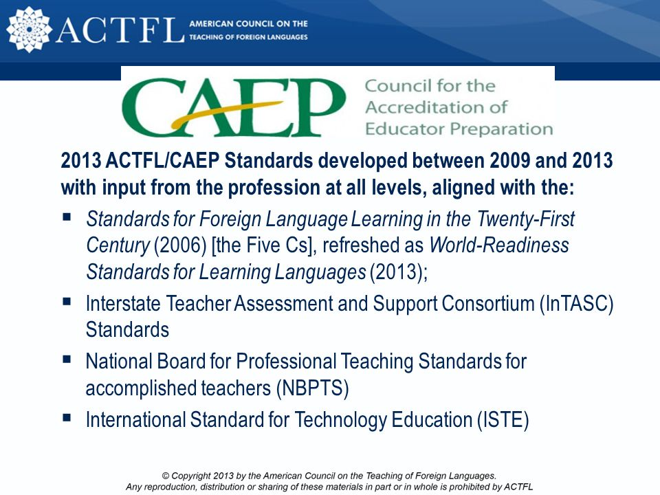 Position Statement - Draft Teacher Effectiveness & Student Growth Demonstrate for stakeholders the value of successful language learning and teaching;