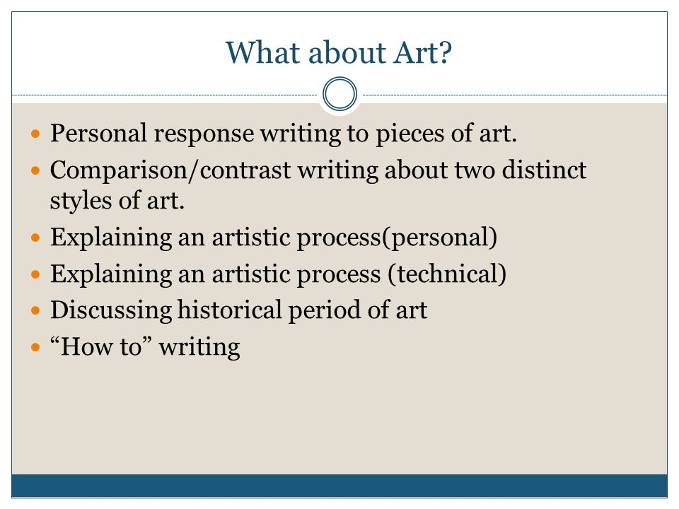 What about Art. Personal response writing to pieces of art.