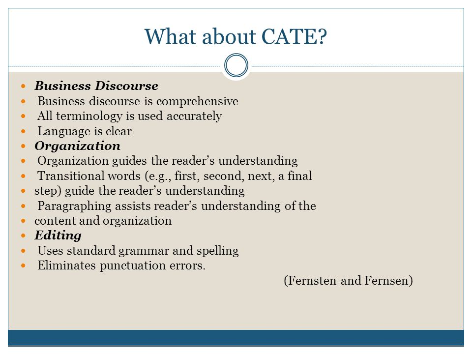 What about CATE.