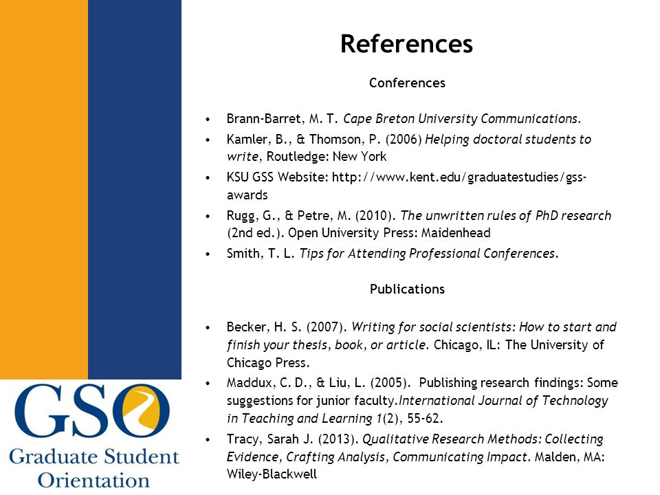 References Conferences Brann-Barret, M. T. Cape Breton University Communications.