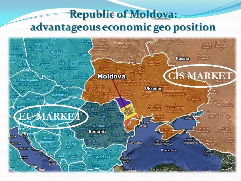 Regional integration efforts of the Republic of Moldova Member OMC Member CEFTA UE ATP+ GSP Member CSI EU 505 mln.