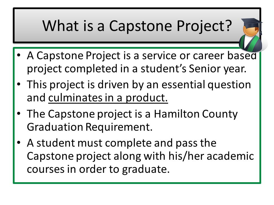 What are the components of East Hamilton's Capstone Project.