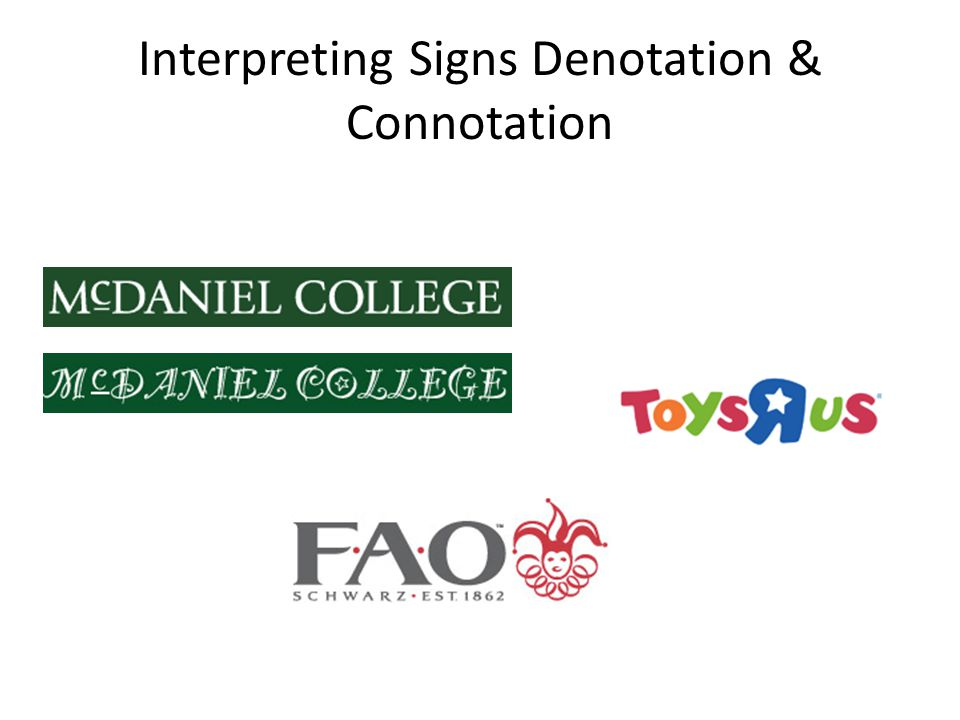 Interpreting Signs Denotation & Connotation