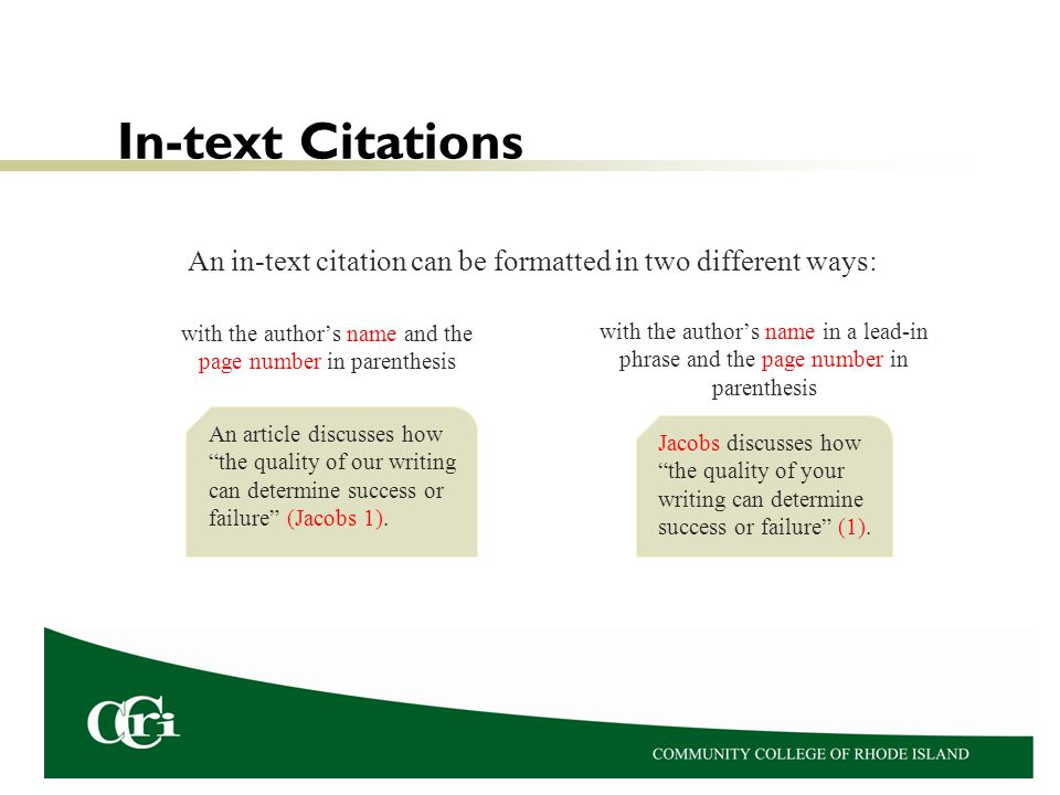 Clear Source Identification and Documentation To indicate a change from the writer of the research paper to one of the sources of information or words, a lead-in phrase is often used.