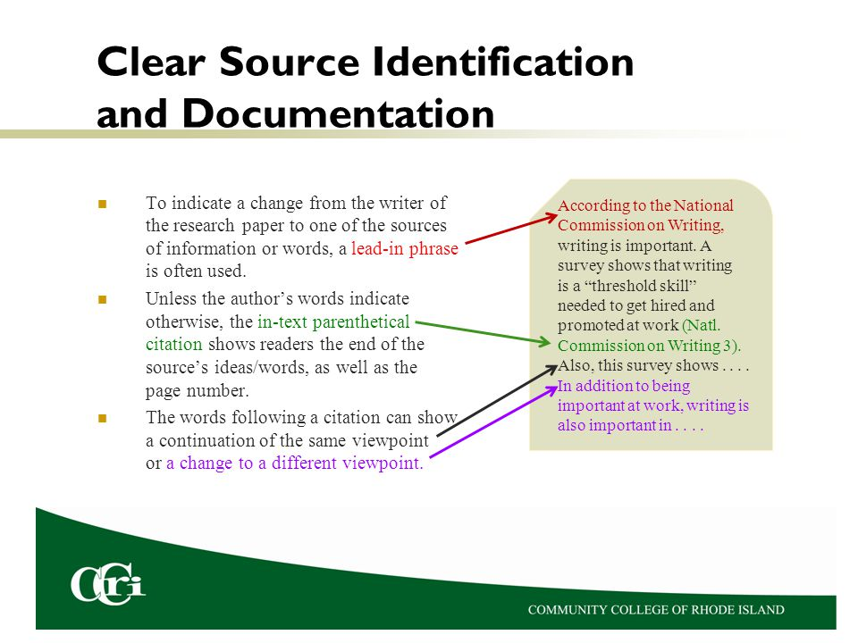 Revision should include checking for places where additional source information is needed.
