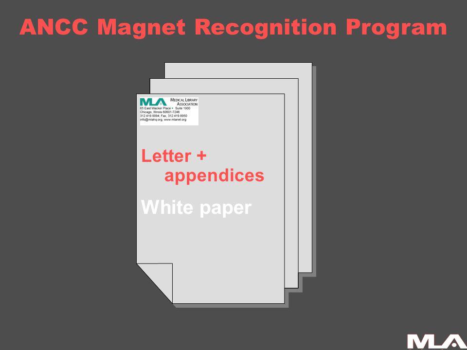 ANCC Magnet Recognition Program Letter + appendices White paper