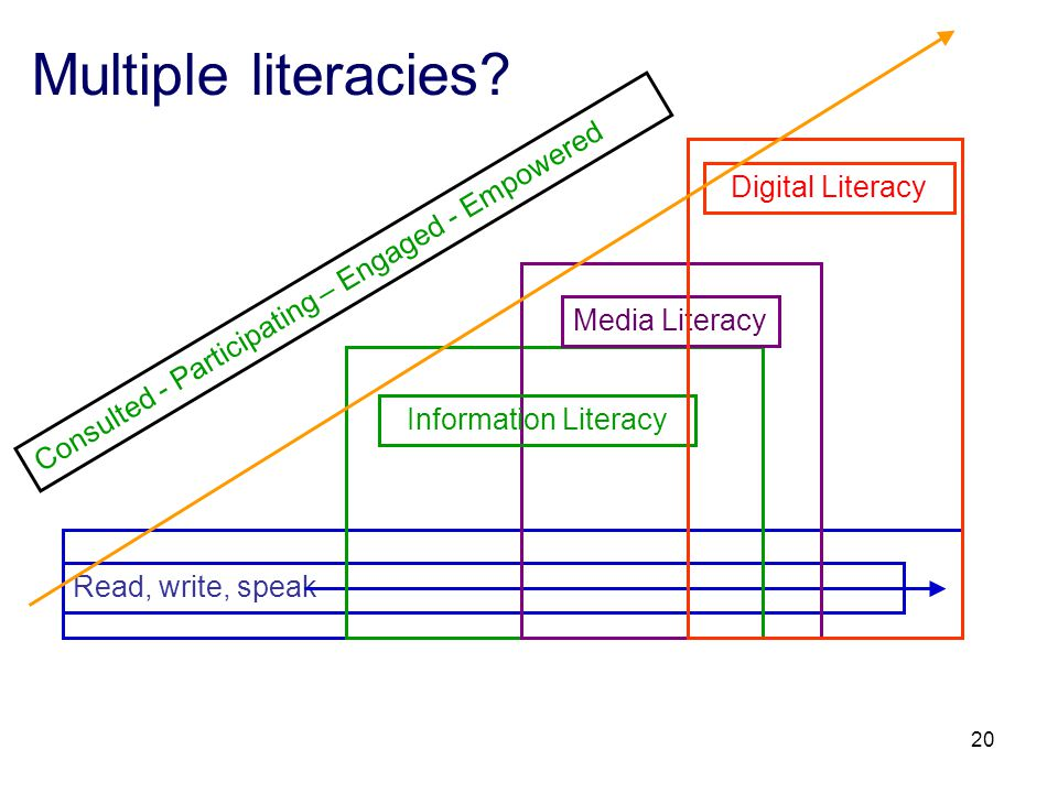 20 Multiple literacies.