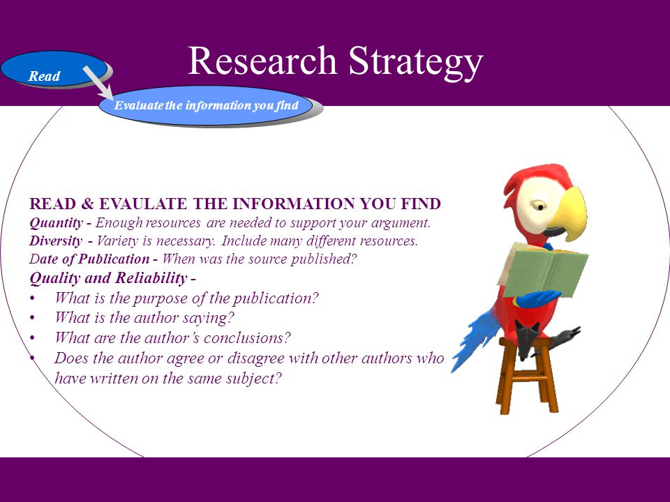 Research Strategy MODIFY YOUR SEARCH Make sure that the topic you have chosen is not too big.