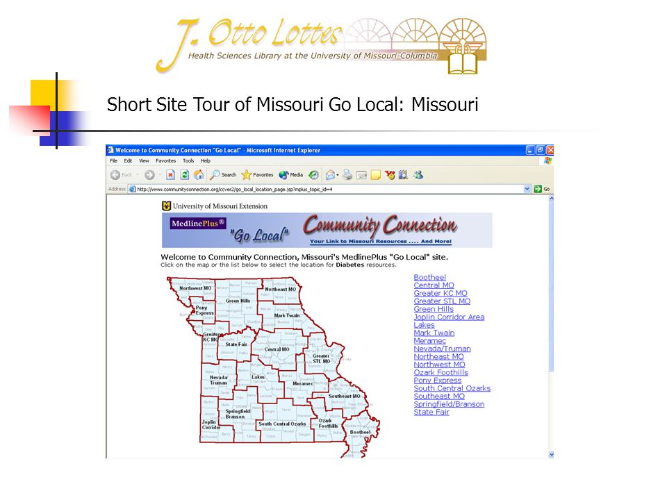 Short Site Tour of Missouri Go Local: Missouri