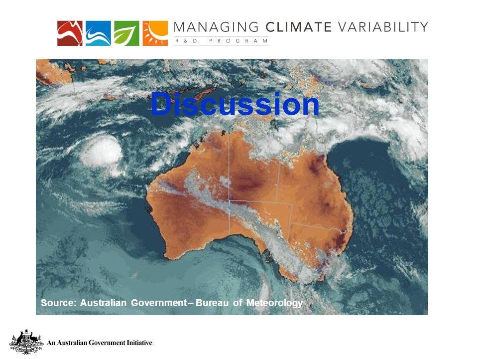 Discussion Source: Australian Government – Bureau of Meteorology Discussion