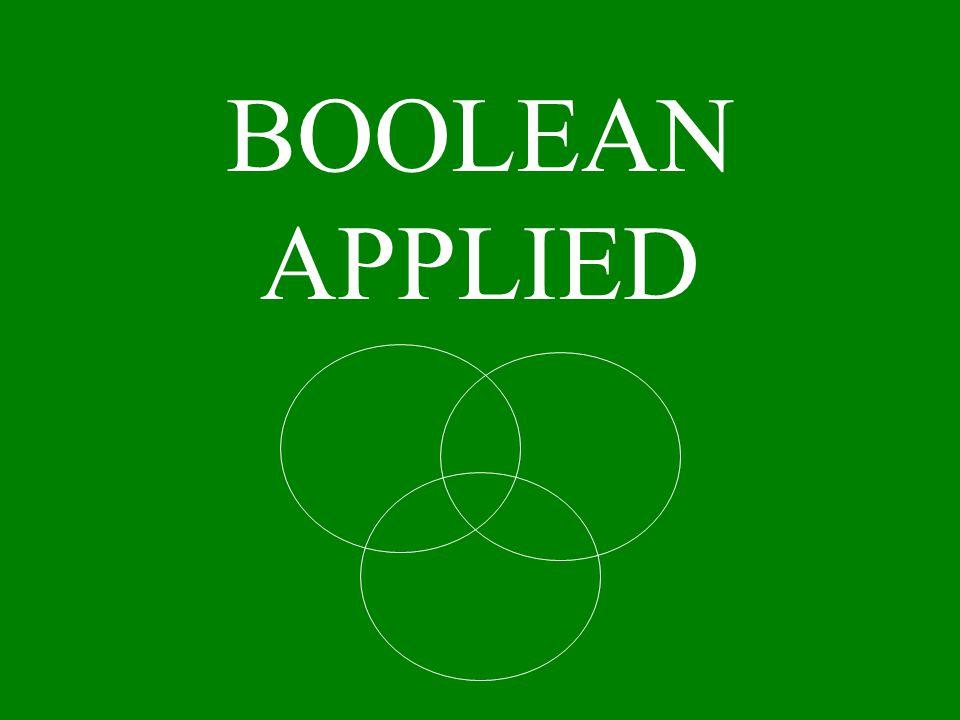 BOOLEAN APPLIED