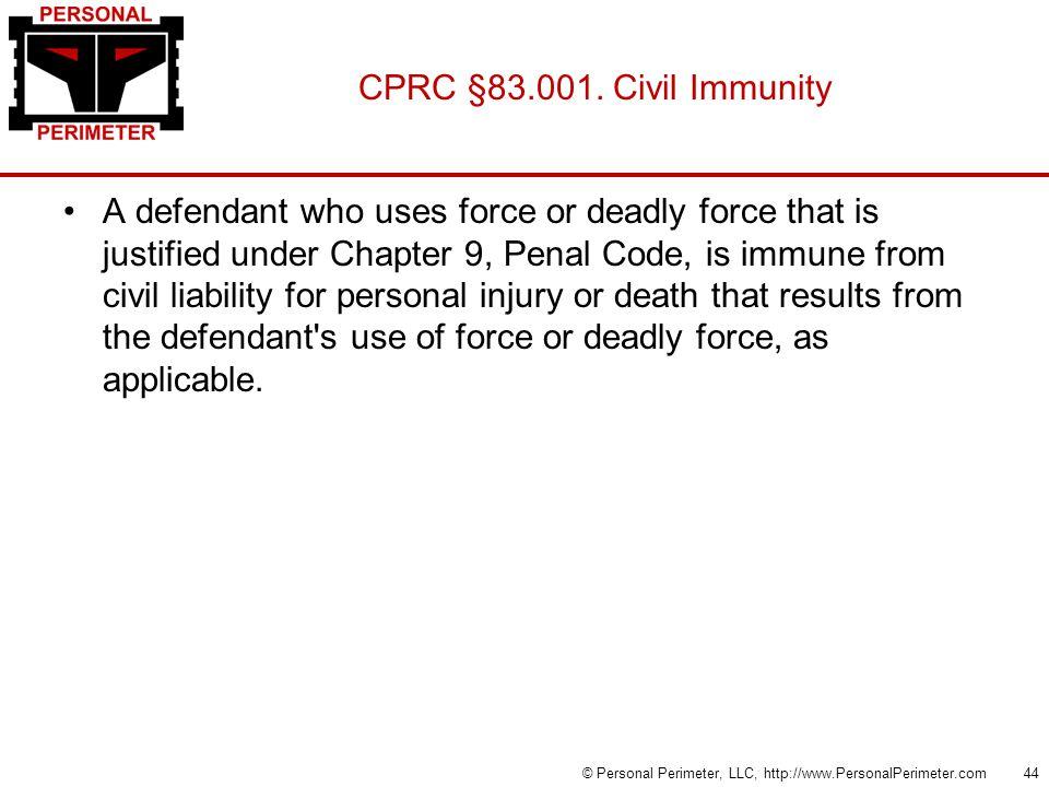 CPRC §83.001.