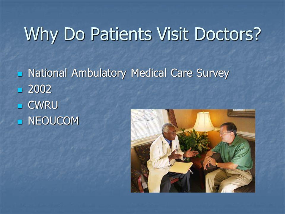 Why Do Patients Visit Doctors.