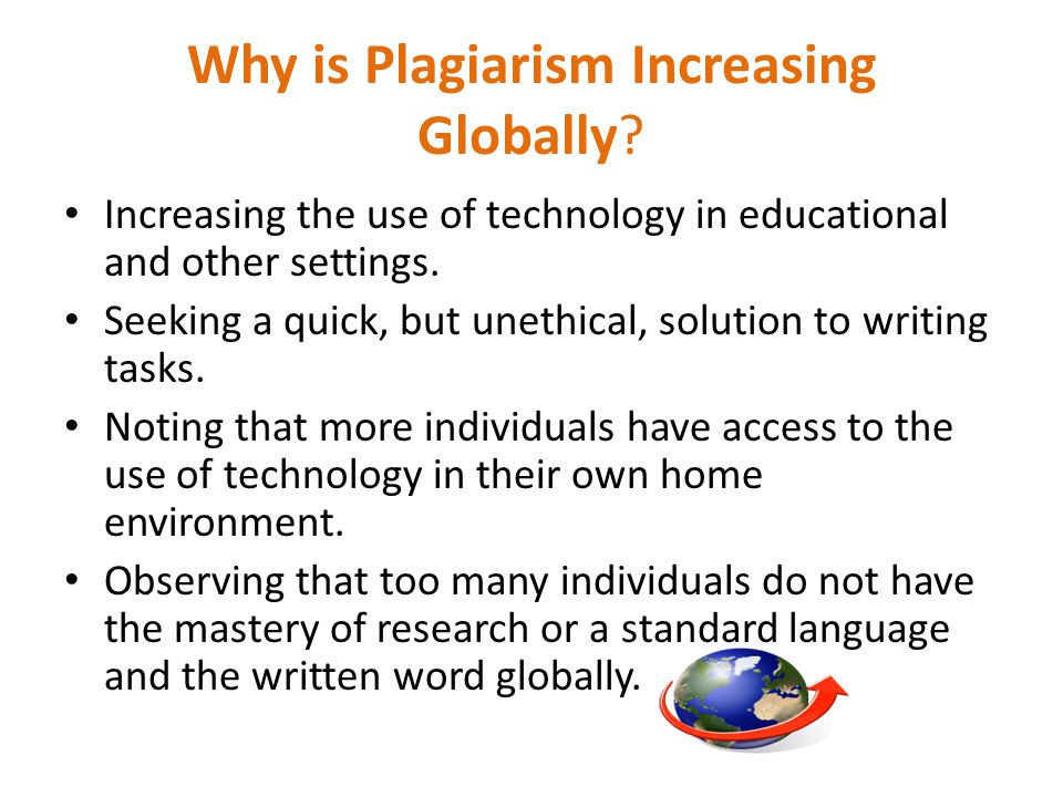 Why is Plagiarism Increasing Globally.