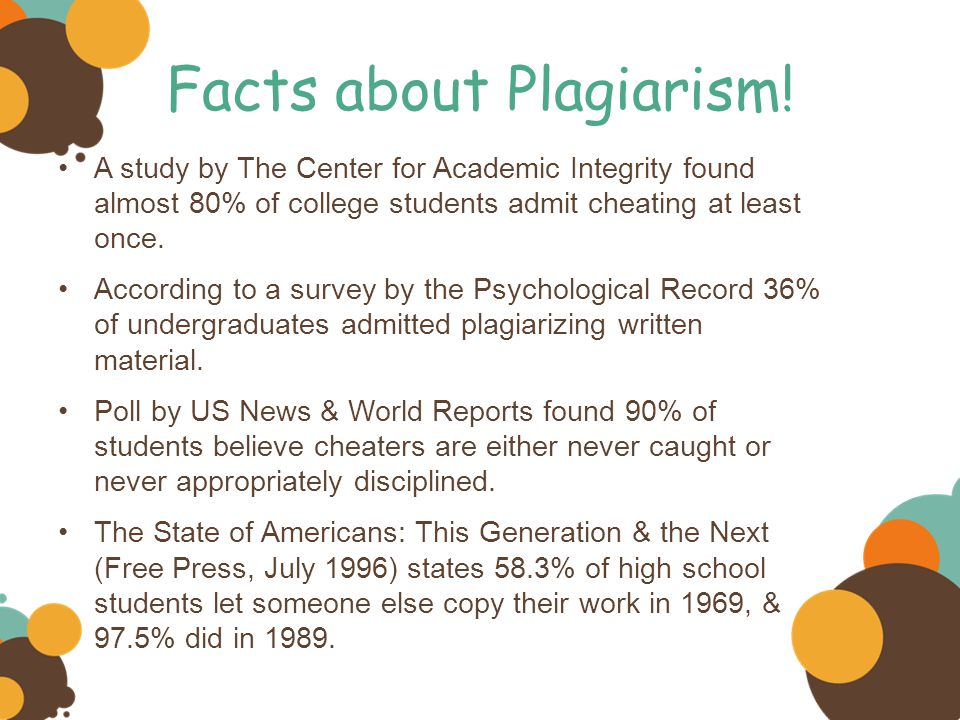 Facts about Plagiarism.