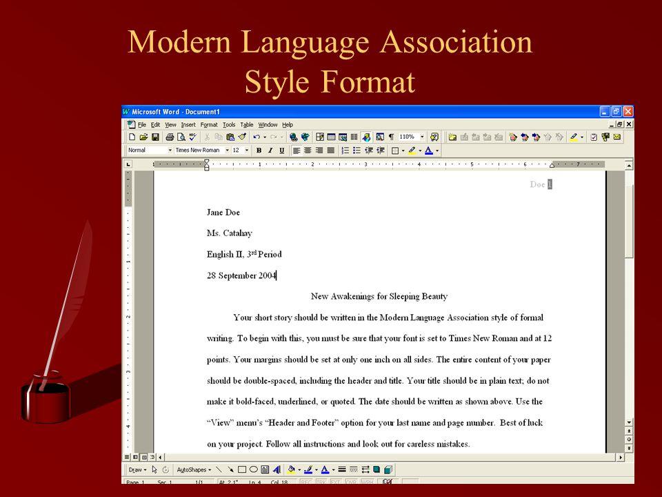 Modern Language Association Style Format