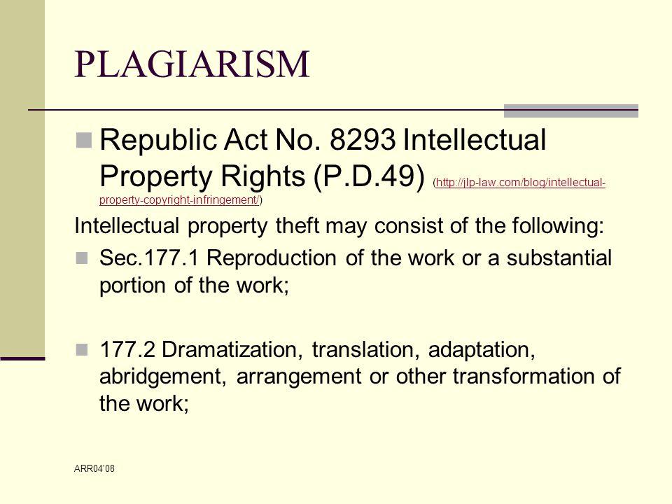 ARR04 08 PLAGIARISM Republic Act No.