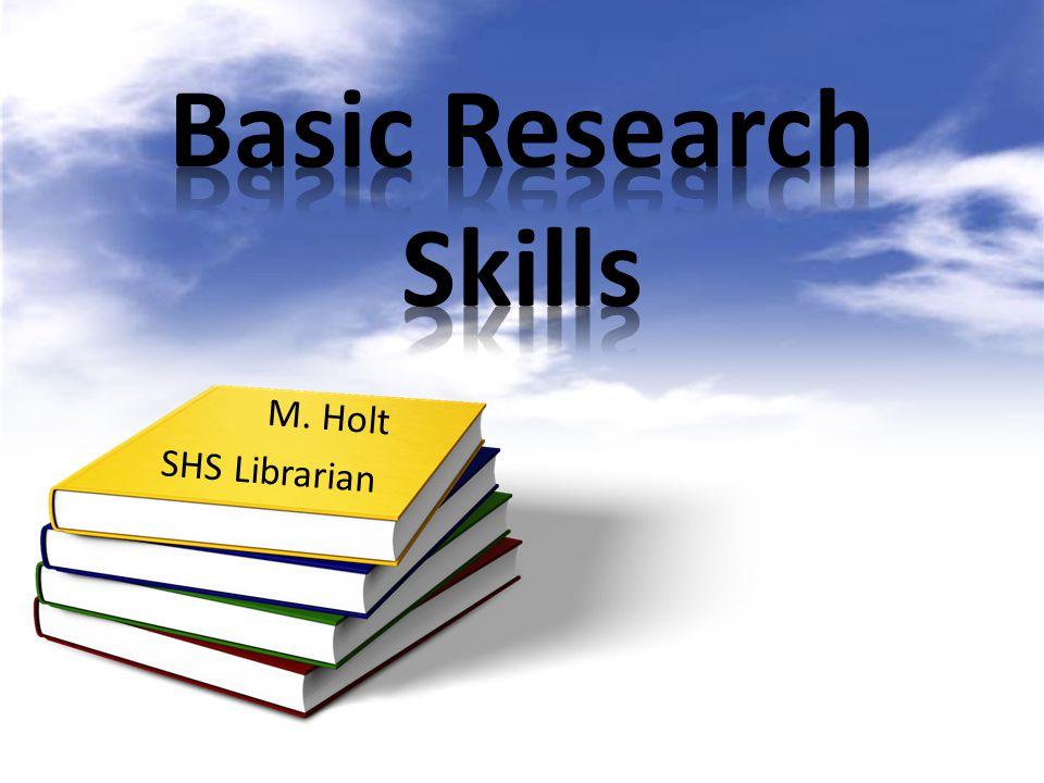 M. Holt SHS Librarian