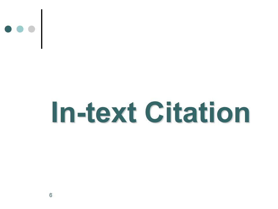6 In-text Citation