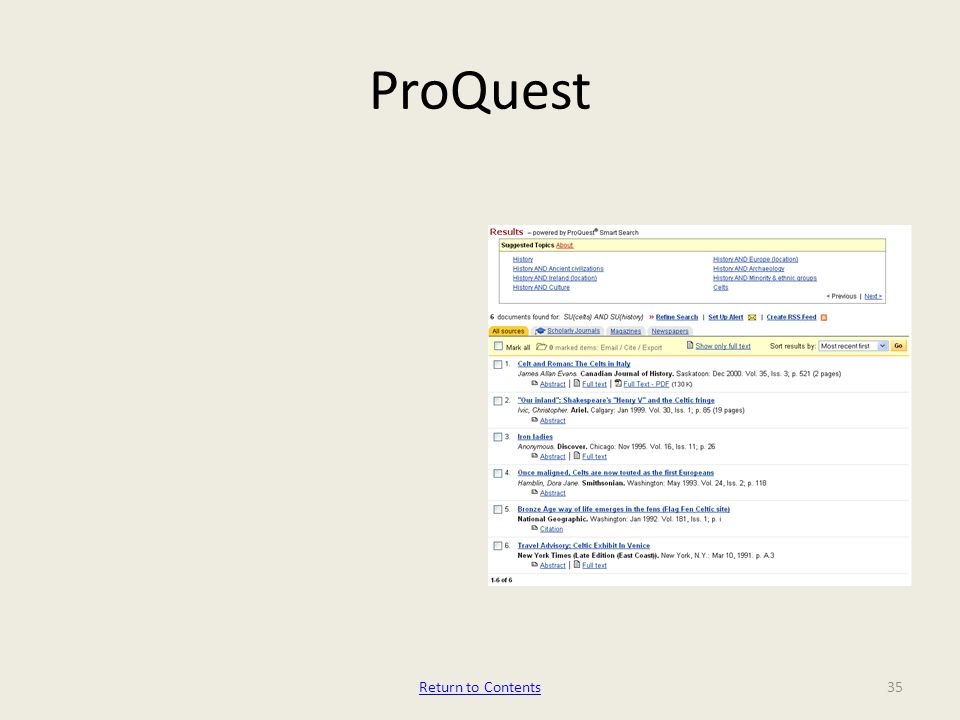 ProQuest 35Return to Contents