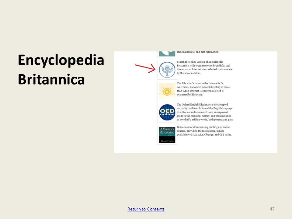 Encyclopedia Britannica 47Return to Contents