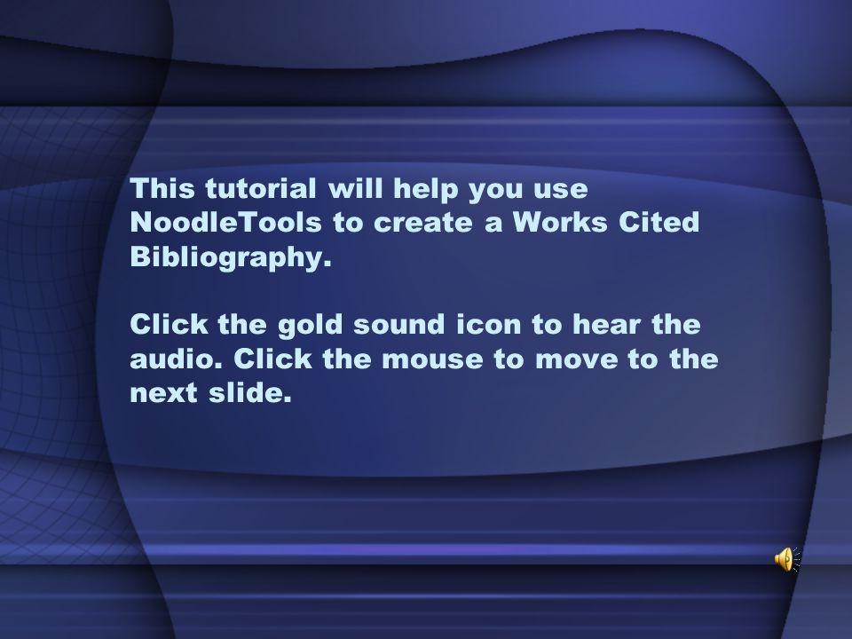 NoodleTools Tutorial Created by Jessica Flaggs & Brenda Randolph