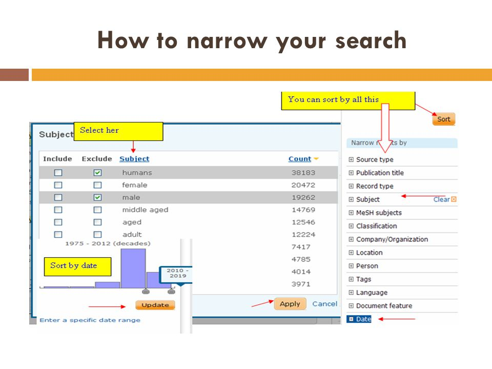 How to narrow your search