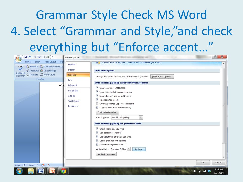 Grammar Style Check MS Word 4.