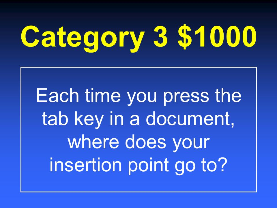 Category 3 $800 What type of indent is used to format each source on the Works Cited page of an MLA Report?