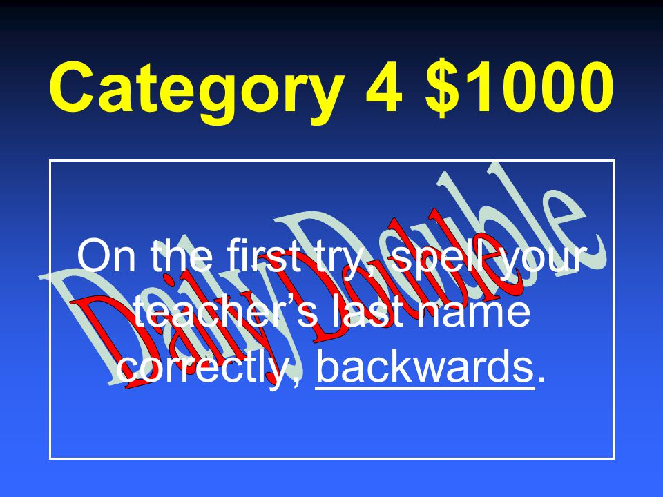 Category 4 $800 Who is he?
