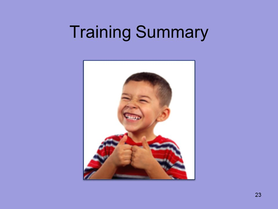 Training Summary 23
