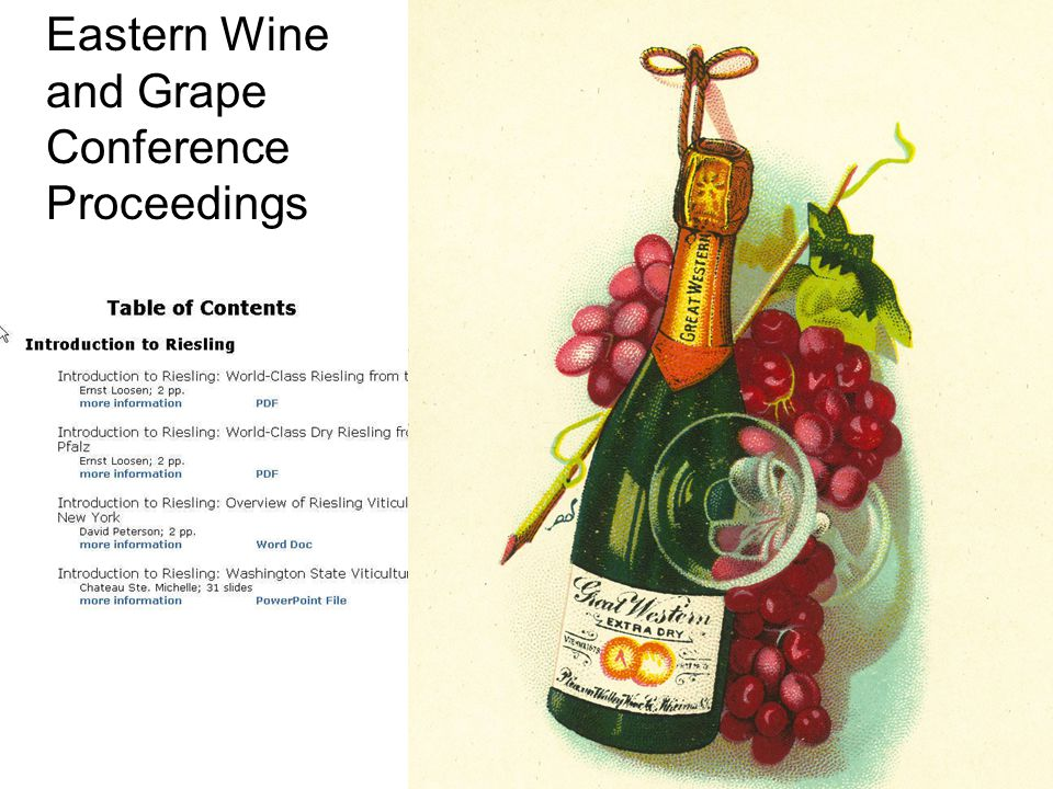 Eastern Wine and Grape Conference Proceedings