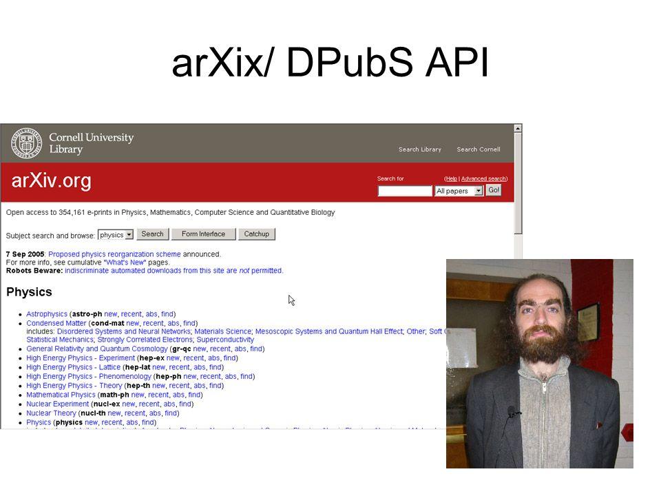 arXix/ DPubS API
