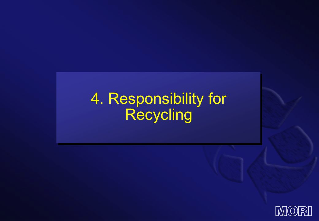 4. Responsibility for Recycling