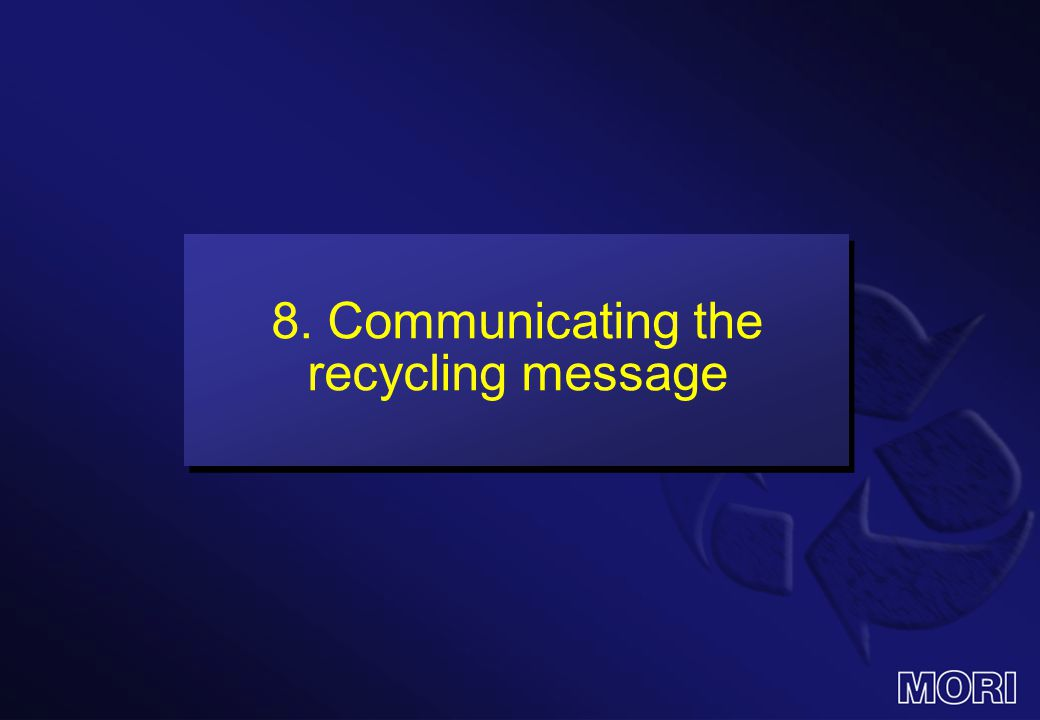 8. Communicating the recycling message