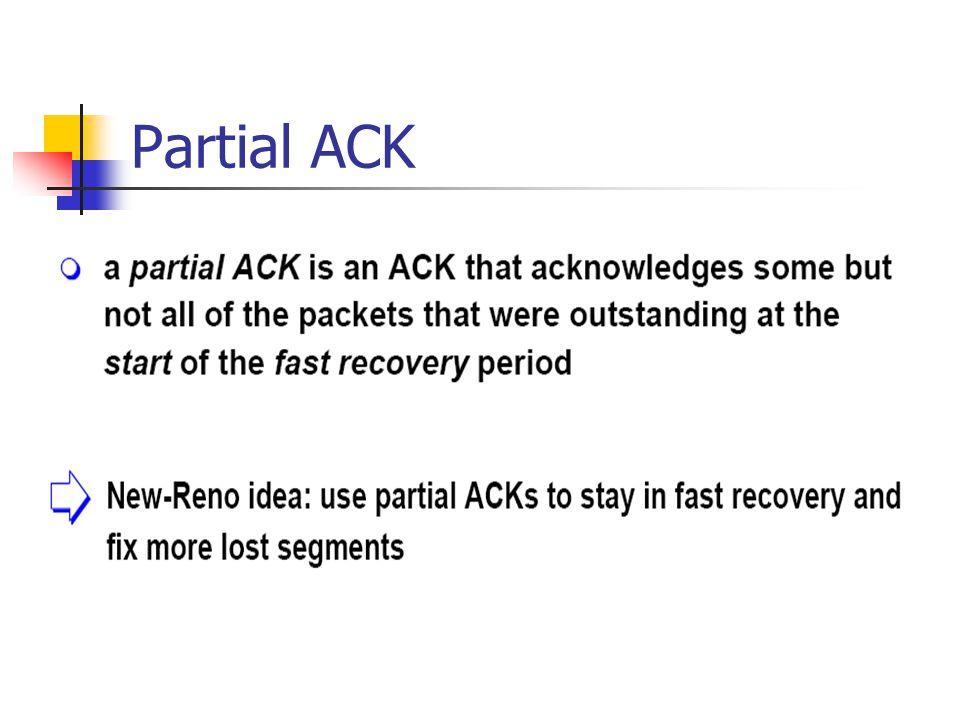 Partial ACK