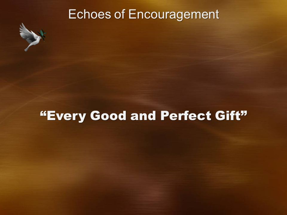 Every Good and Perfect Gift Echoes of Encouragement