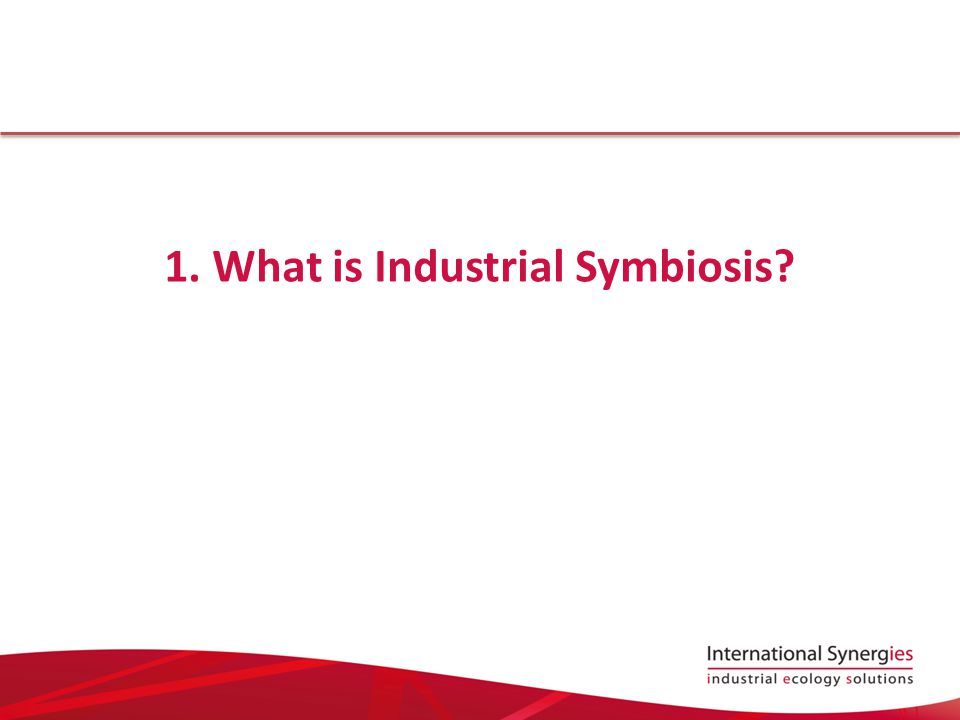 What is Industrial Symbiosis.Numerous academic definitions...