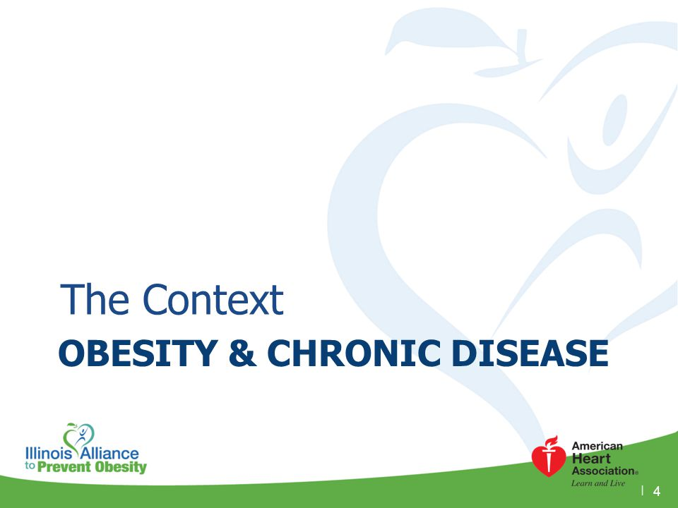 OBESITY & CHRONIC DISEASE The Context 4