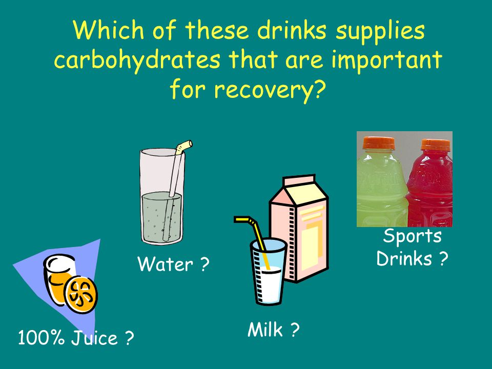 Which of these drinks provides nutrients that athletes need for recovery.