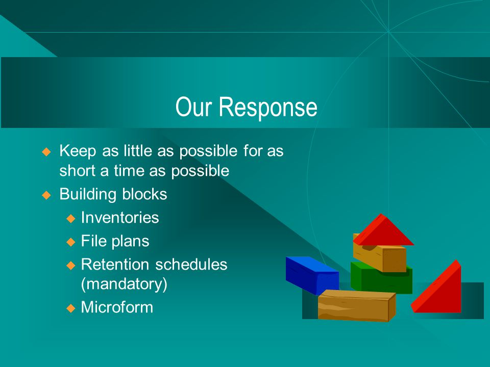 A Working Definition Electronic Recordkeeping.