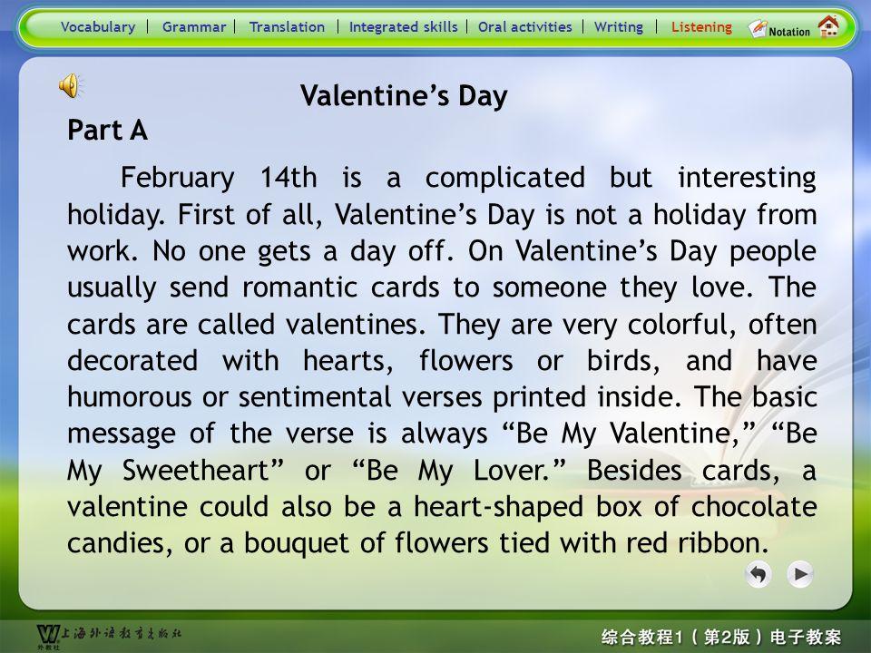 Consolidation Activities- Listening_B2 VocabularyGrammarTranslationIntegrated skillsOral activitiesWritingListening Later Valentine was and by the Rom