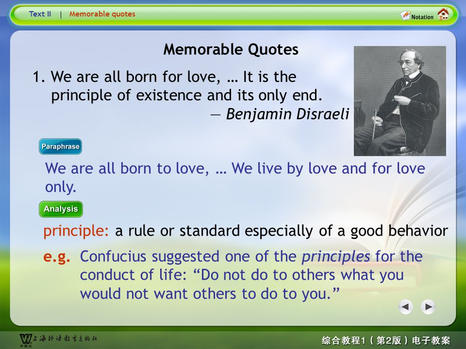 Memorable Quotes2 Text IIMemorable quotes Benjamin Disraeli (1804–1881) was a British Prime Minister, parliamentarian, Conservative statesman and lite